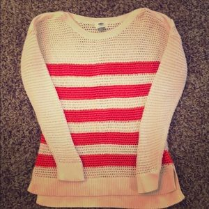 Old Navy Open Knit Striped Sweater